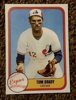 Tom Brady Custom Baseball Rookie Card Montreal Expos New