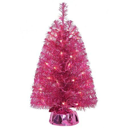 Holiday Time Artificial Christmas Trees Pre-Lit 2\u0027 Noble Fir