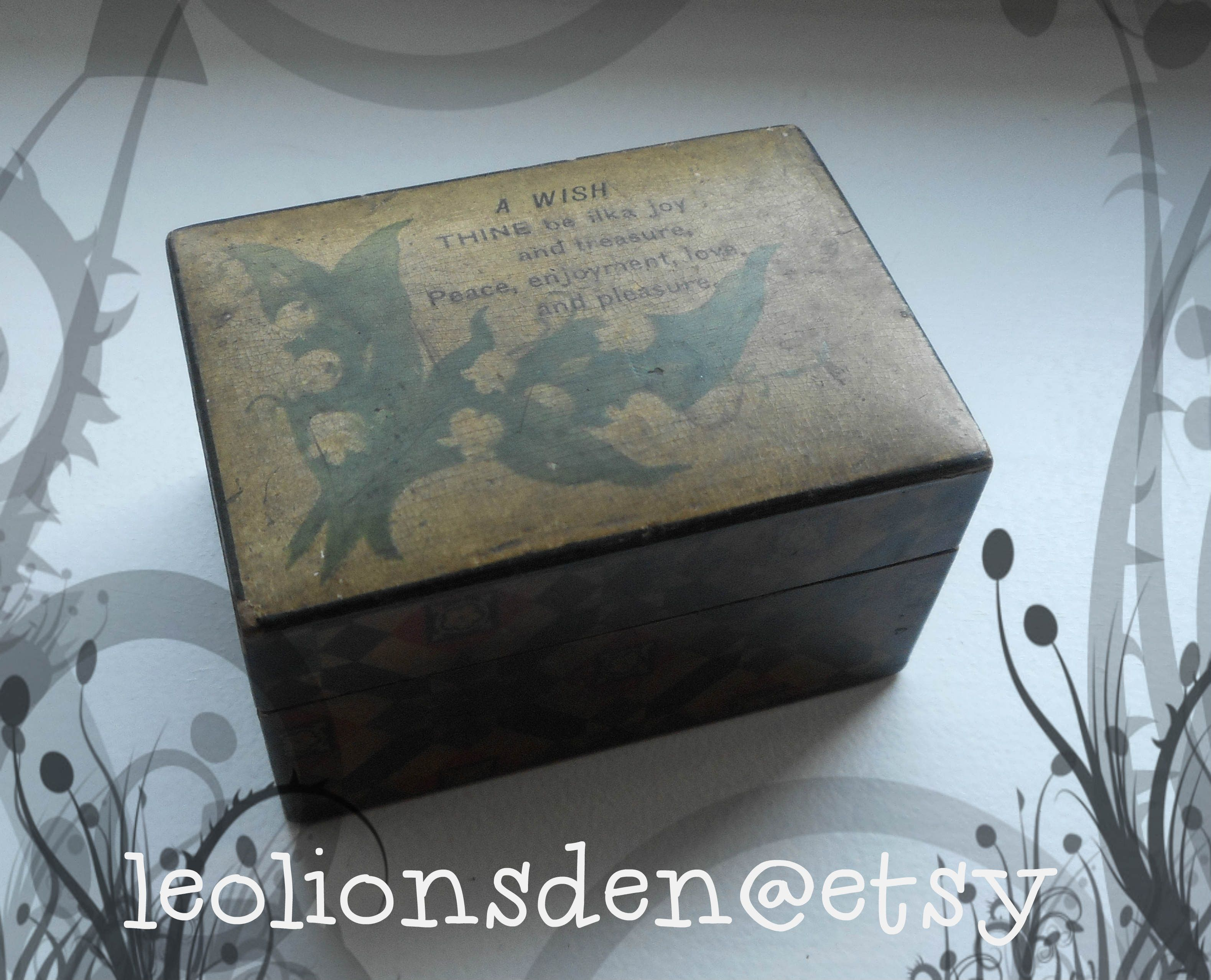 Mauchline Box Featuring Robert Burns Verse And Lilly Of The