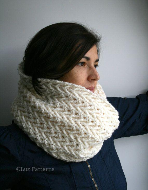 Crochet pattern, girl and women lace cowl pattern, scarf crochet ...