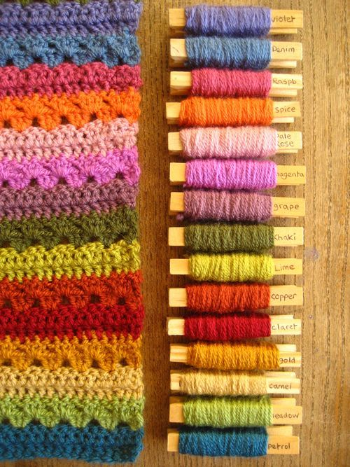 Cosy Blanket CAL : Part 1 | Yeah! Yarn Pegs! | Pinterest | Wolle und ...