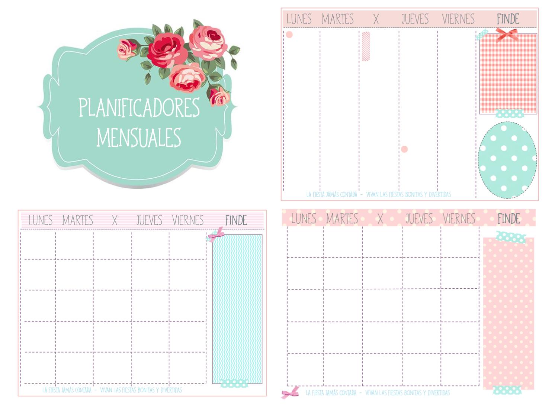 Planificadores mensuales scrap y agendas pinterest - Disenos de calendarios ...