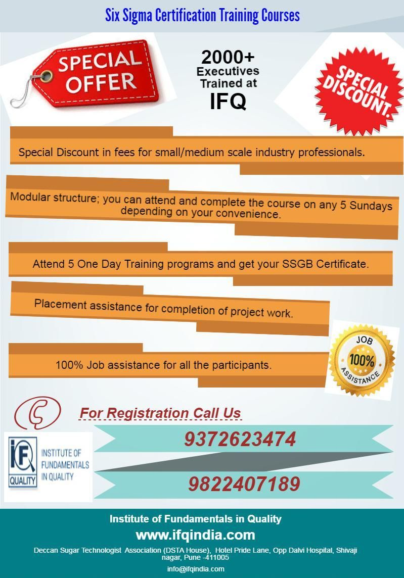 Ifqindia Offers Sixsigmacertification And Trained More Than 400