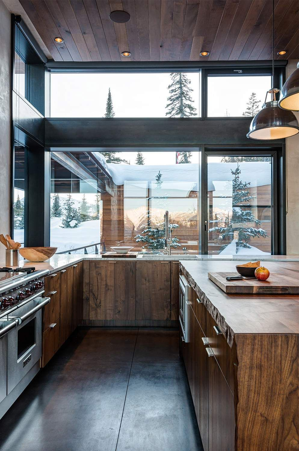 Modern Montana Mountain Home is part of home Kitchen Modern - Modern Montana Mountain Home by Pearson Design Group , Interior by Ann Knight Interiors