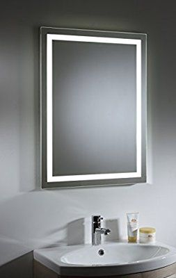 Tavistock Toro Large Illuminated Led Backlit Bathroom Mirror With Heated Demister Pad Sensor Switch 800 X 600 Mm