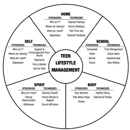 Teen Wheel Of Life Pyschology  JournalingSelf Care