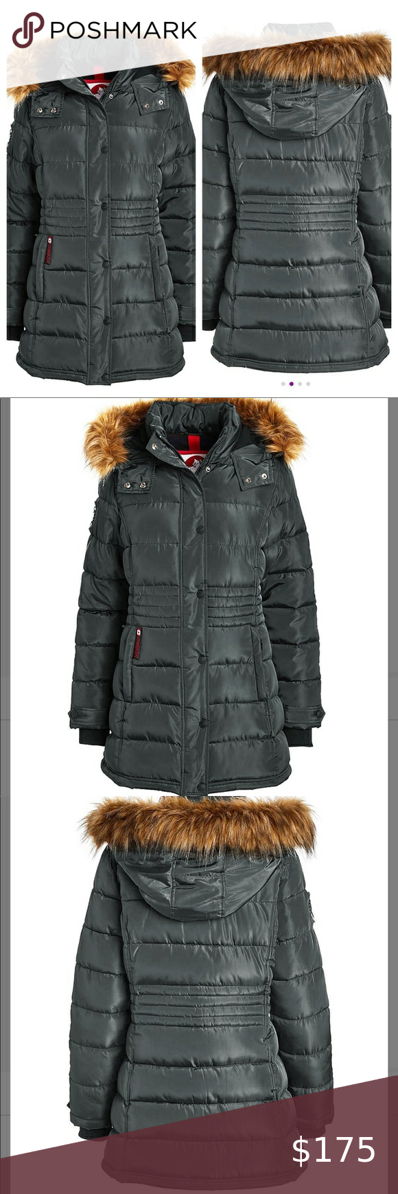 Canada Weather Gear Olive Longline Puffer Coat Nwt Puffer Coat Patagonia Down Sweater Jacket Red Puffer Coat [ 1740 x 580 Pixel ]
