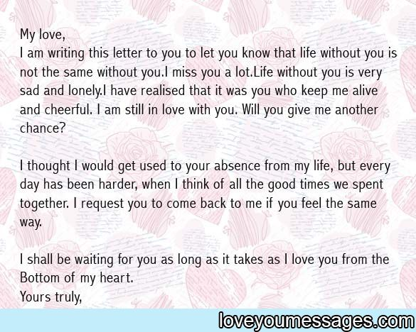 Amazing love letter to girlfriend