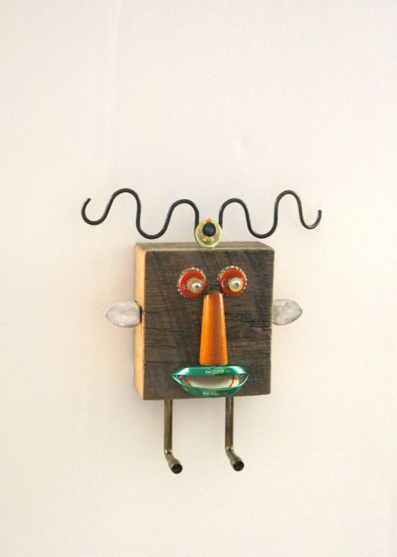 Wall Hook Organizer  Hookit Head Honey by CastOfCharacters23, $55.00