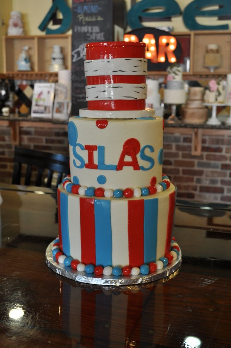 The Cat in the Hat Birthday cake Cake Sugar Bee Sweets Bakery