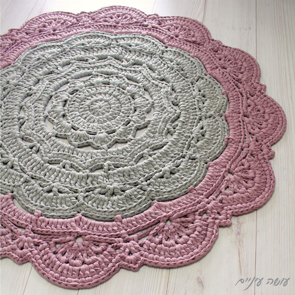 Large Snorka doily rug pattern by Liat Bentov | Doily rug, Ravelry ...