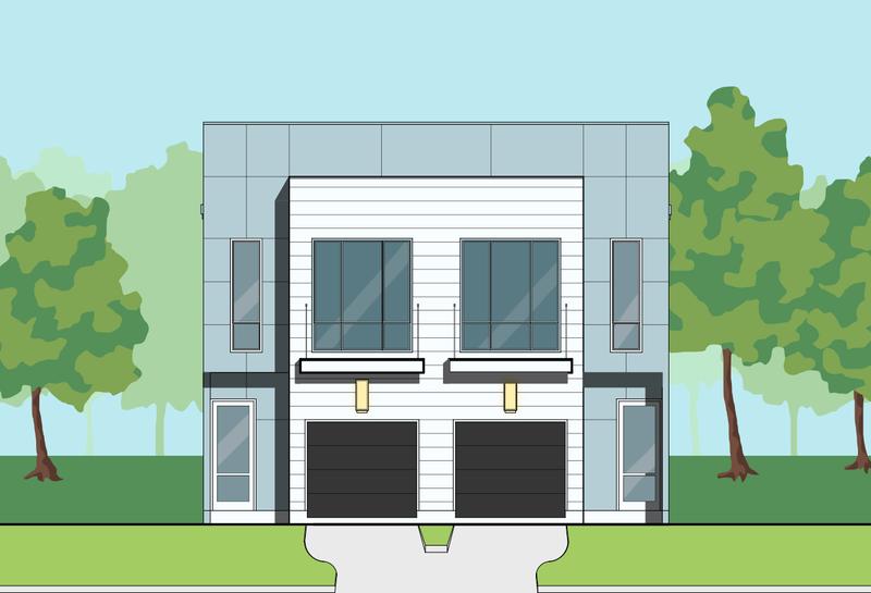 Single Family Two Story Custom Home Plans Residential Development Des Preston Wood Associates House Plans Building Design Plan Townhouse Designs