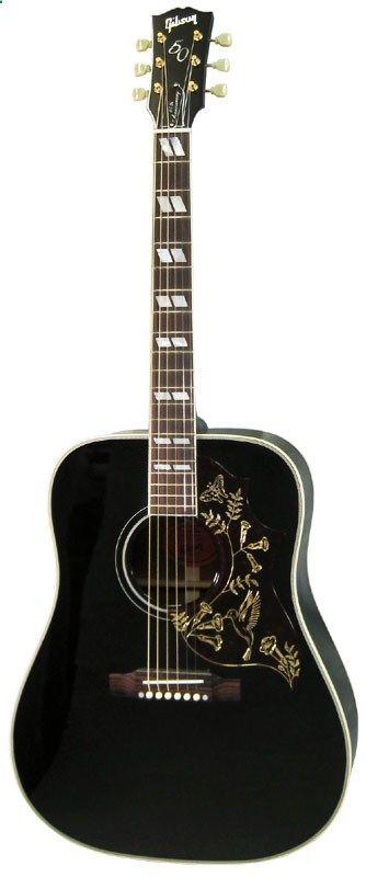 Acoustic Guitar - Gibson Limited Edition Hummingbird Ebony Black ... 586ca89b406