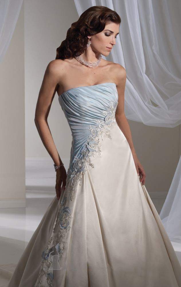 Blue And White Two Color Wedding Dress Light Blue Wedding Dress Blue Wedding Dresses Wedding Dresses