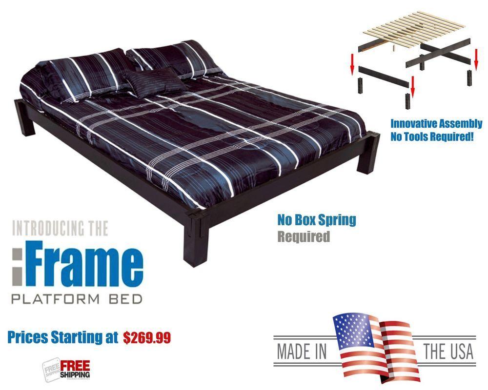 Iframe Modern Platform Bed Frame Made In The Usa With American Woods Platformbedusa Modern Modern Platform Bed Platform Bed Frame Platform Bed
