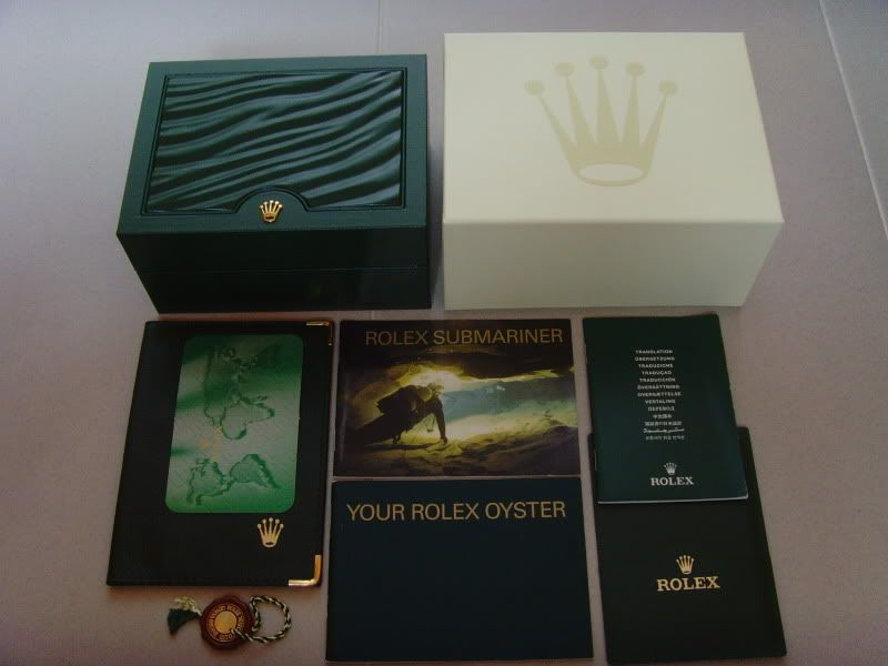 Rolex packaging, one of the finest, the watch is not worth as much without that certificate that comes in the package.