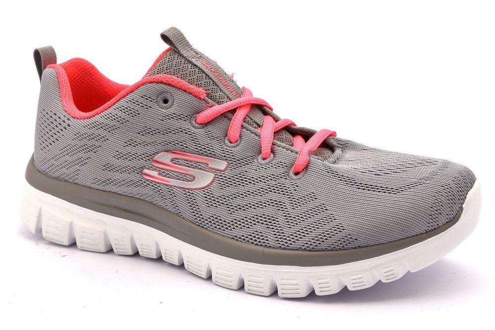 SKECHERS 12615 GYCL GRIGIO Corallo Memory Foam Sneakers ...