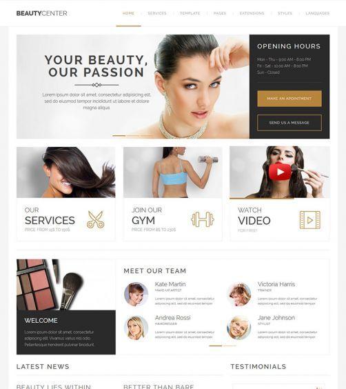 JM Beauty Center Template