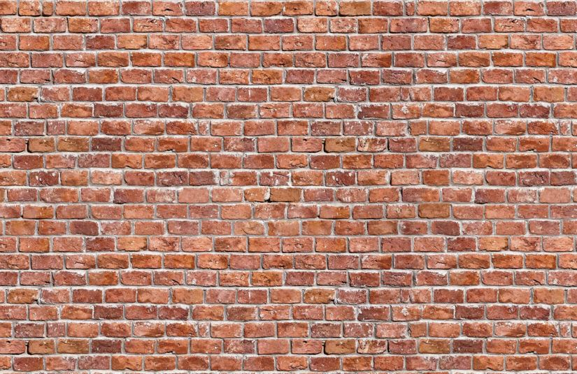 Rundown Red Brick Wallpaper Wall Mural In 2019 Textures Plain