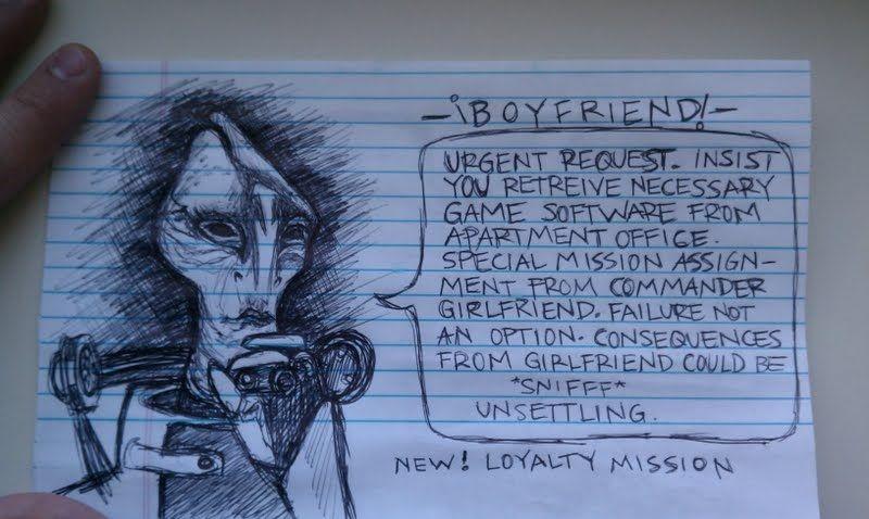 Girlfriend's secret mission for him!