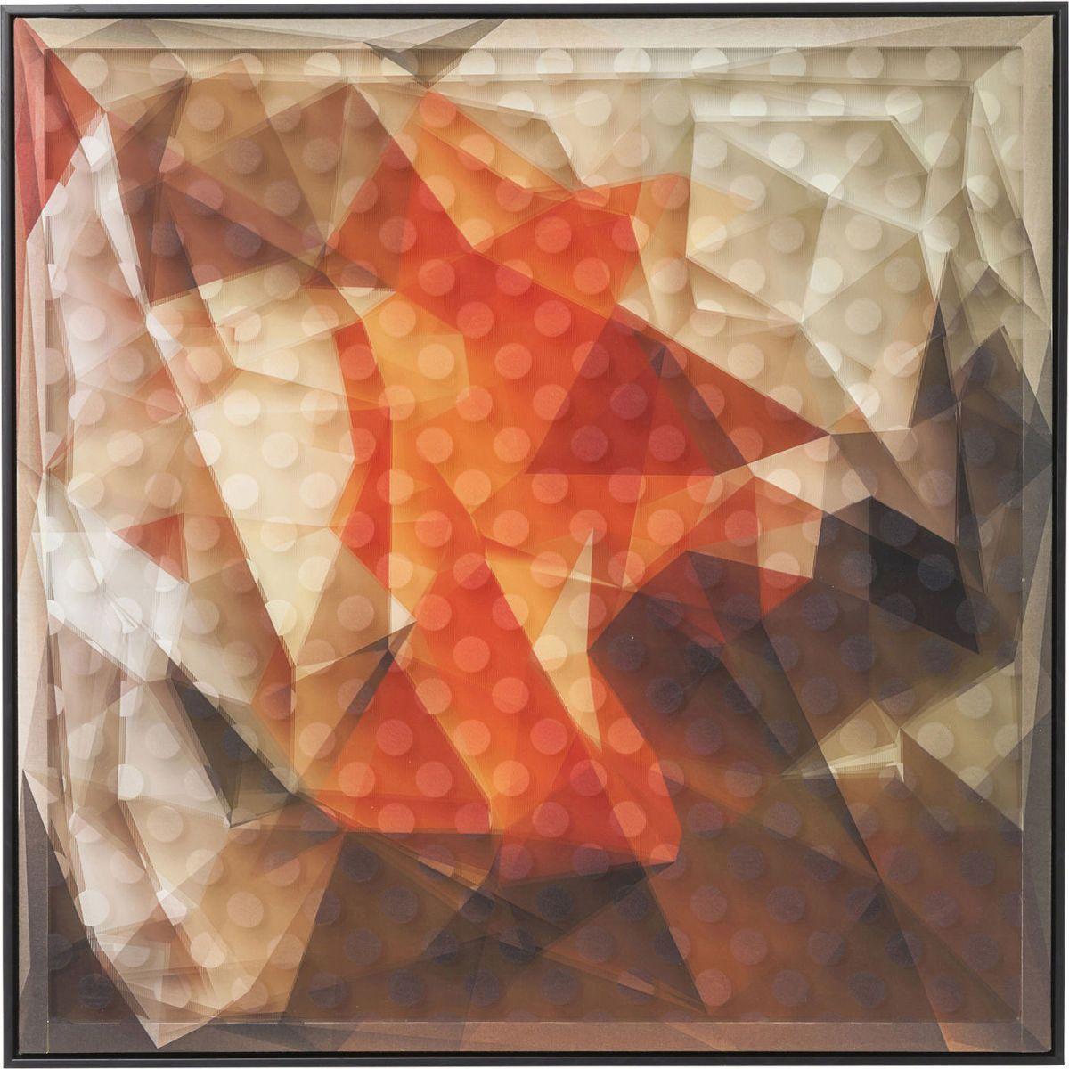 Bild Frame Art 3D Abstract Orange 80x80cm Jetzt bestellen