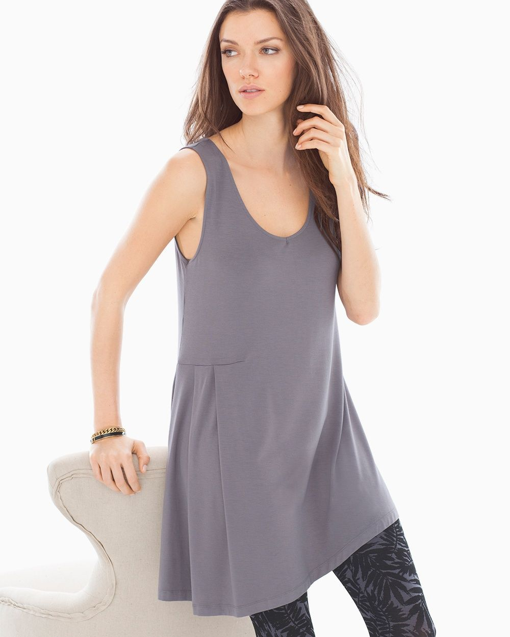 87d3f171c4062 Soma Live. Lounge. Wear. Side Drape Tunic Excalibur Grey