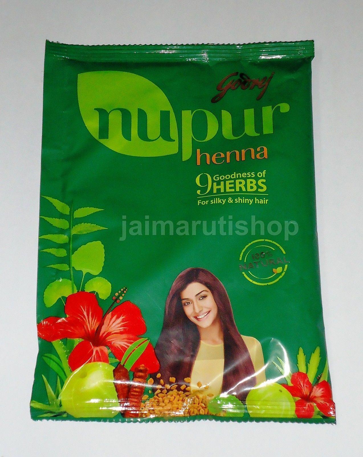 15x Godrej Nupur Mehendi Henna Hair Color Powder 100 Natural 130g