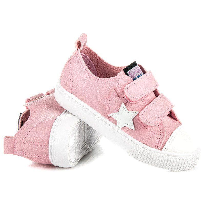 Buty Sportowe Dzieciece Dla Dzieci L H Rozowe Tenisowki Na Rzep Z Eko Skory L H Kids Sneakers Baby Shoes Shoes