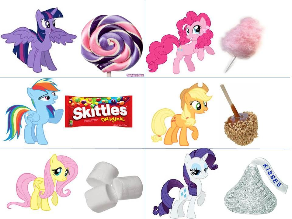 I made this today :) If the mane six were candy...