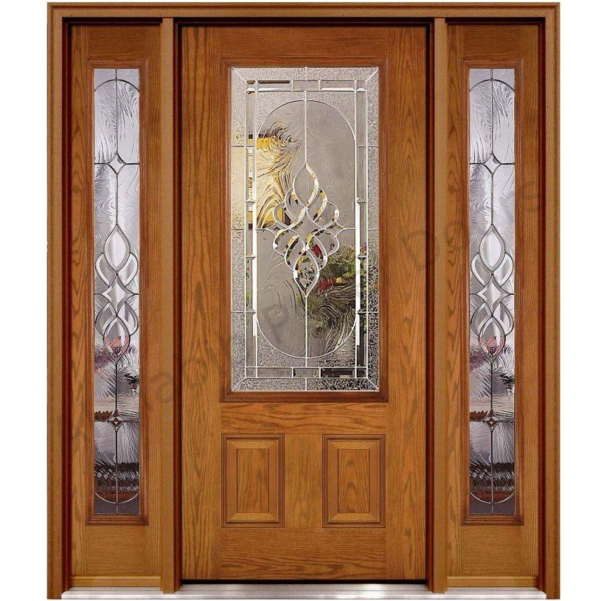 Ash Wood Glass Panel Door Hpd451 - Glass Panel Doors - Al Habib ...
