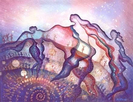 """""""Embracing the Goddess energy within yourselves will bring all of you to a new understanding and value of life. A vision that inspires you to live and love on planet earth. Like a priceless jewel.. Buried in dark layers of soil and stone. Earth radiates her brilliant beauty...Into the caverns of space and time"""" - Artwork by Willow Arlenea"""