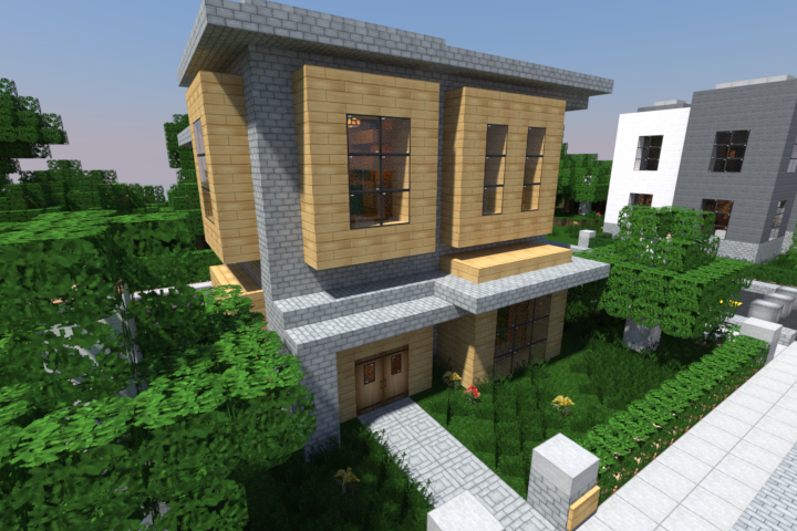 rminecraft Rendered Modern House Minecraft Pinterest
