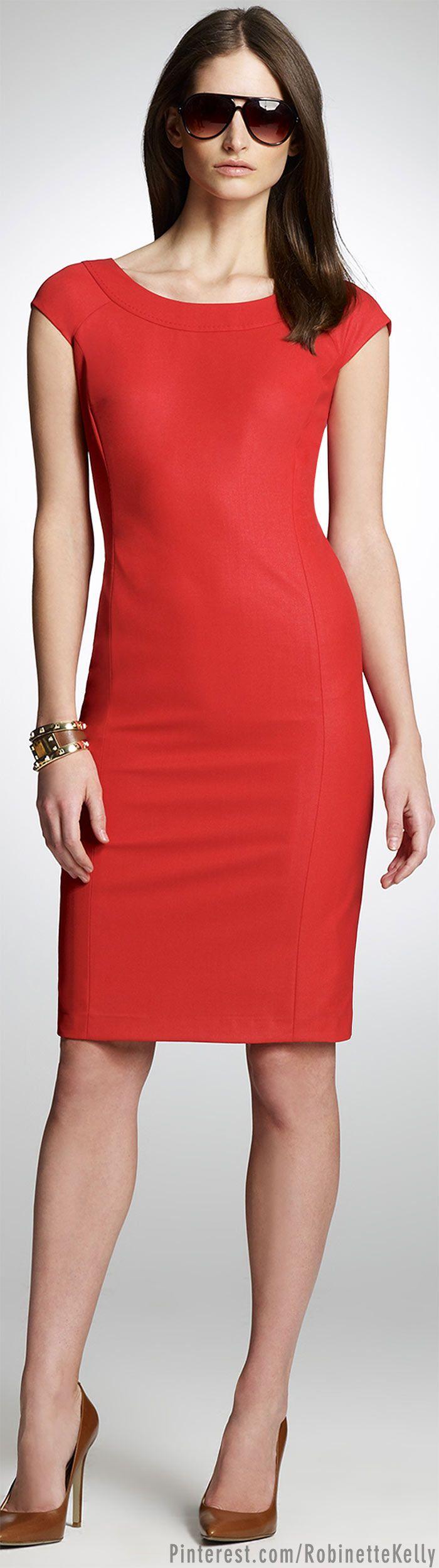 Jones New York | Poppy Red Sheath Dress  OMgosh I LOVE this!