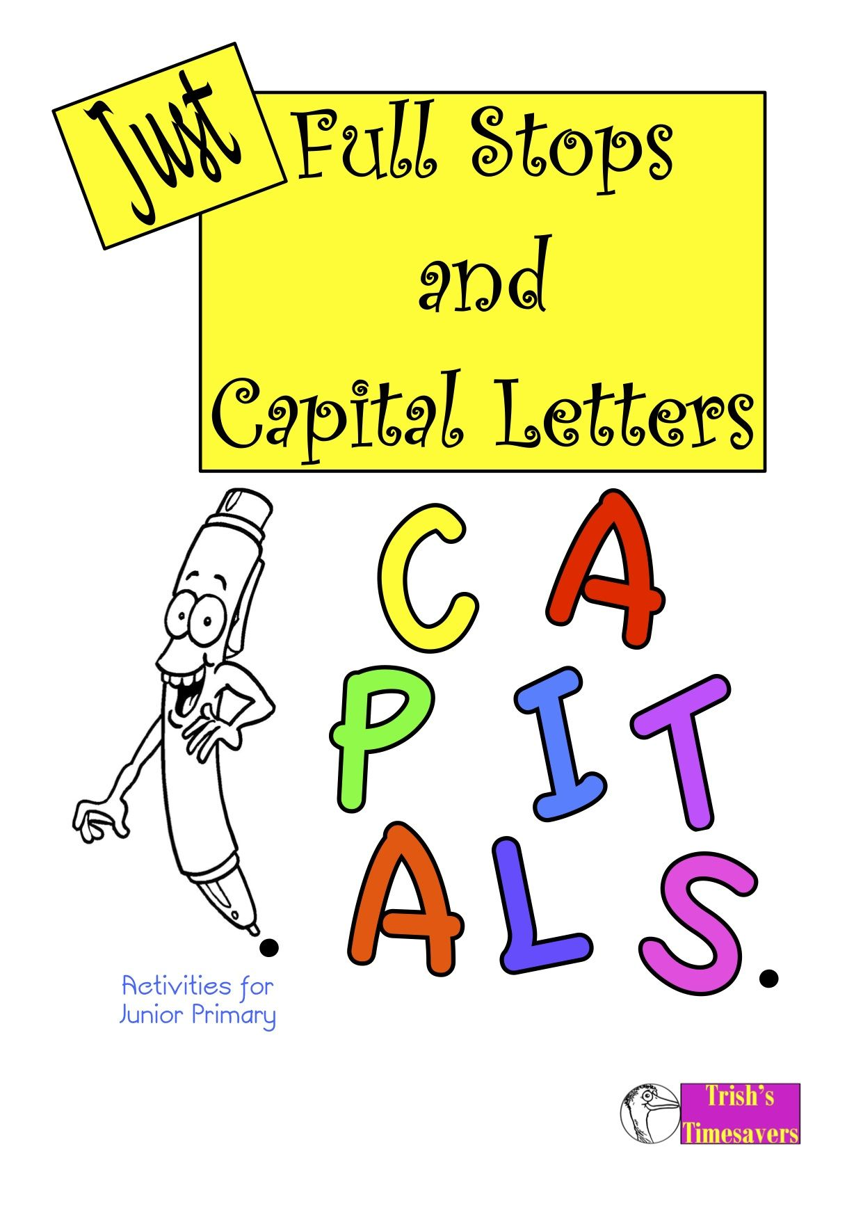 Using The Punctuation Marks Of Full Stops And Capital