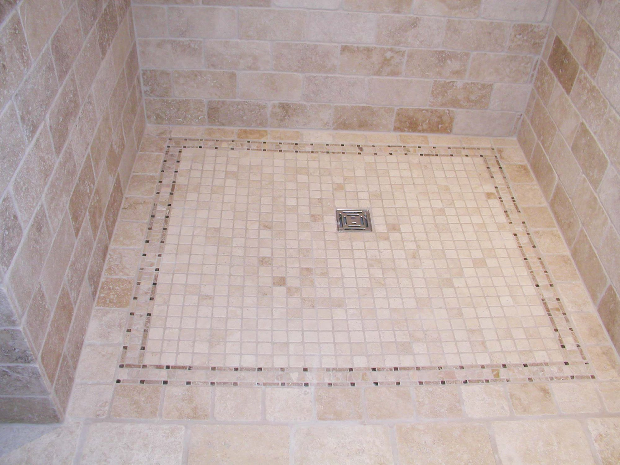 Natural Stone Flooring For Kitchens Natural Stone Mosaic Shower Shelves Are A Quirky And French