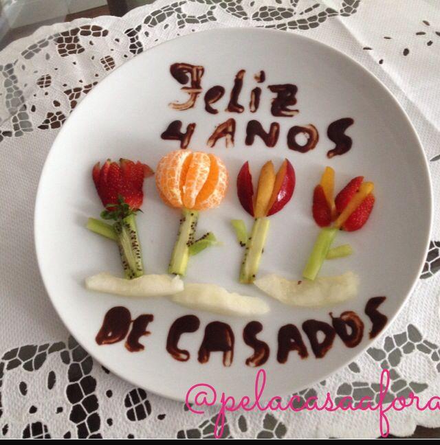Bodas De Flores E Frutas Surpresa Preparada Pelo Meu Marido Lindo