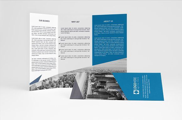 Blue Trifold Brochure A Brochure Templates Psd A Size Brochure - Business brochure templates psd free download