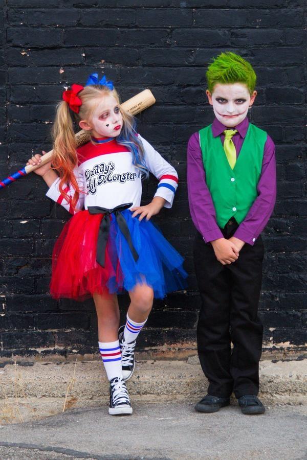 Harley quinn joker custom costume sets kids in 2019 - Disfraz joker casero ...