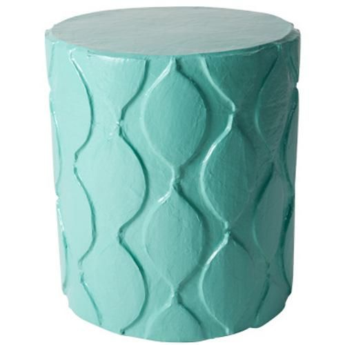 The Aunt Susan Stool is a great piece for extra seating or a side table. Super versitle and chic, we love her Moroccan inspired pattern. Shown in Stray Dog Aqua, she is available in all of our Benjamin Moore Aura Paint colors. Paper mache, handmade in Mexico.