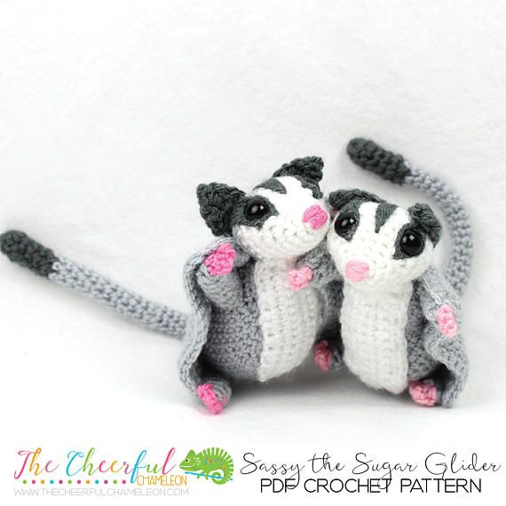 Crochet Pattern Sugar Glider Amigurumi Pattern Crochet | amigurumi ...
