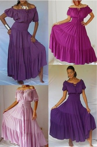 Boho peasant maxi dress