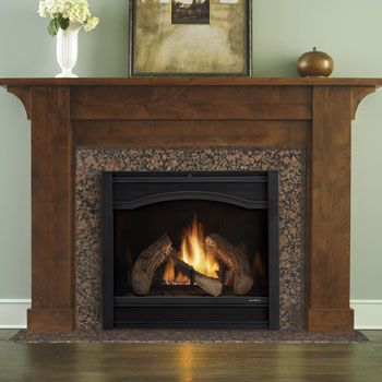 Best 25 wooden fireplace ideas on pinterest wood burner for Craftsman gas fireplace