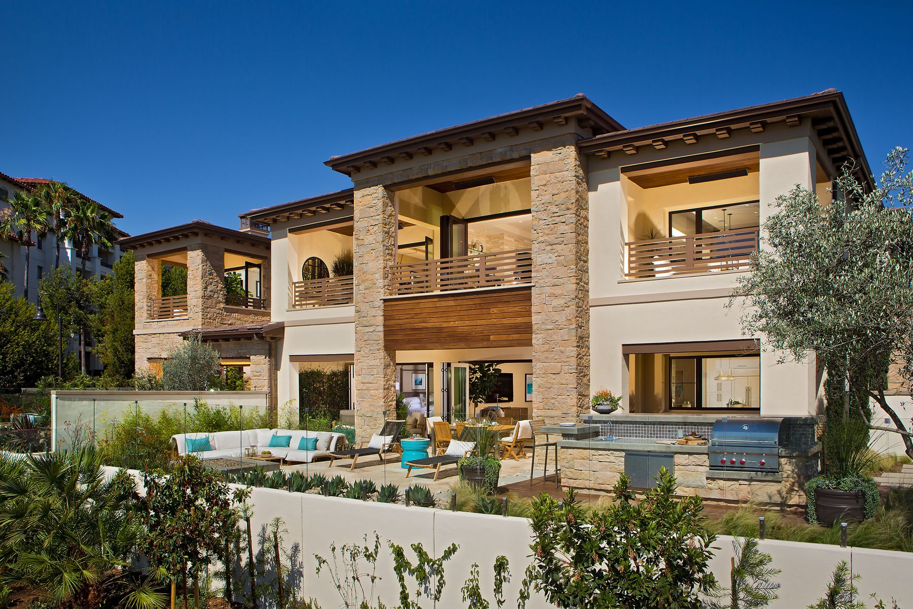Home grill design bilder plan  overall rear at the grand monarch in dana point  the grand