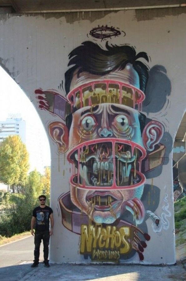 Urban art by Austrian artist Nychos