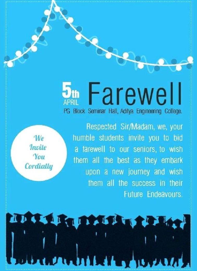 Farewell Invitation Sample Milano Danapardaz
