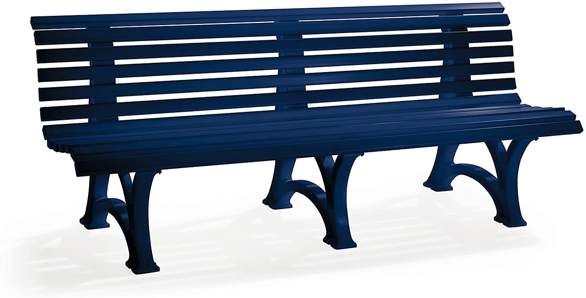 Blome Parkbank Aus Kunststoff Mit 13 Leisten Breite 2000 Mm Stahlblau Bank Gartenbank Kunststoff Bank Kunststoff Banke Ruhebank Gartenbank Stahl Sachen