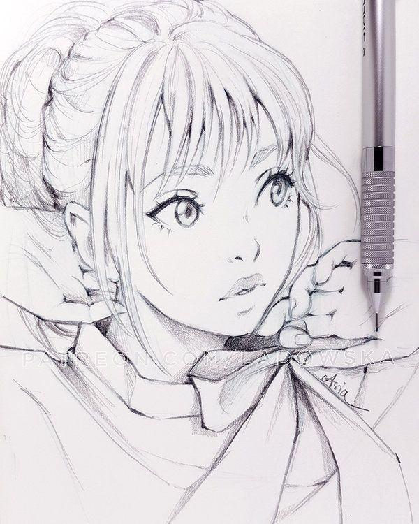 Semi Realistic Anime Style Anime Drawings Sketches Drawings Anime Sketch