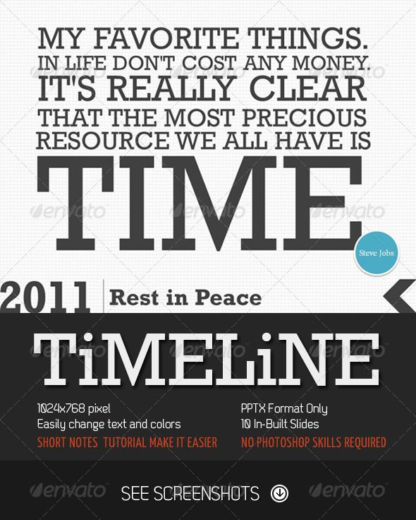 Timeline PowerPoint Presentation #GraphicRiver This Time I