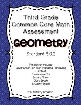 Third Grade Common Core Math Assessment ~ 3.G.2