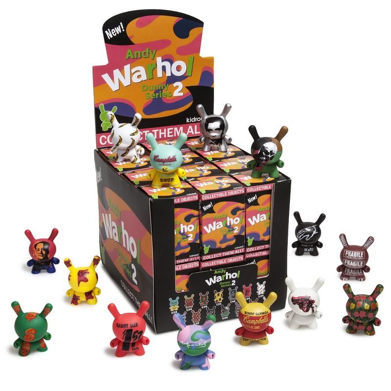 Andy Warhol 3 Dunny Blind Box Mini Series 2.0 #andywarhol